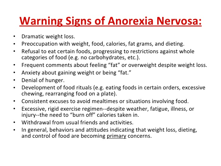 cause of anorexia and other eating disorders Cognitive psychologists would explain that the causes of eating disorders are due to faulty cognition (thoughts) and having distorted perceptions of self a beck was the pioneer of cognitive behavioural therapy (cbt), which can help eating disorder sufferers challenge their faulty thinking and change their perceptions.